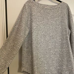 Loft Gray marled sweater top